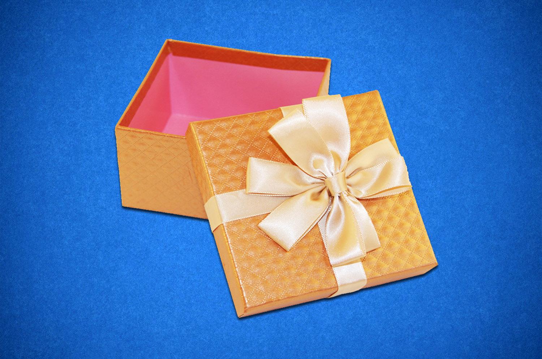 Квадратная упаковка подарок