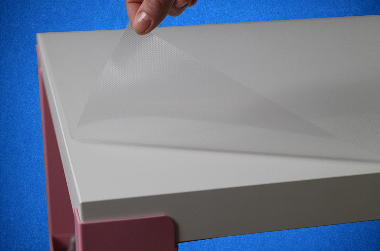 силиконовая наклейка на микроприсоске