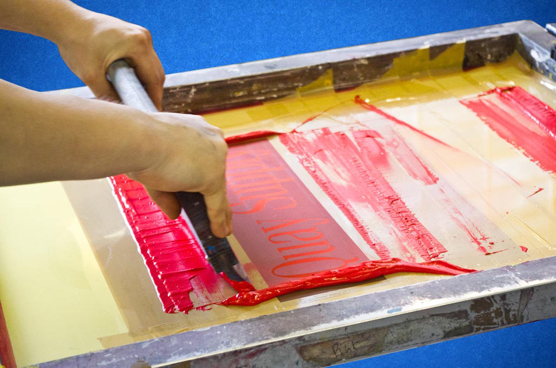 Печать шелкографией