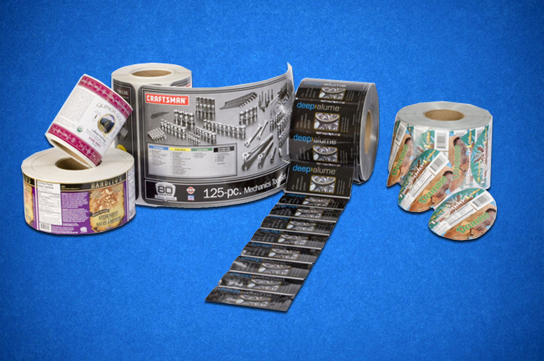 Этикетки из полимерной пленки в рулонах