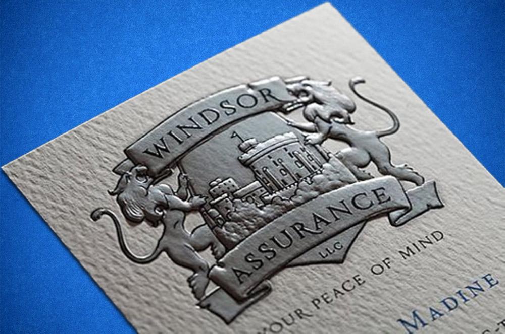 высокий способ печати визитки