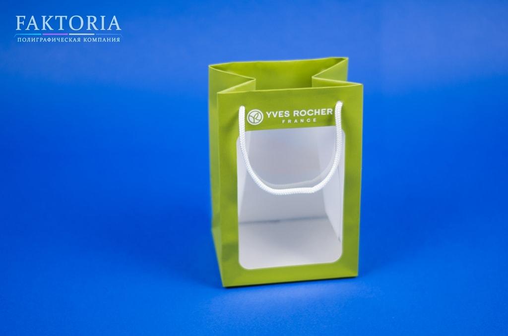 Бумажные пакеты с окном