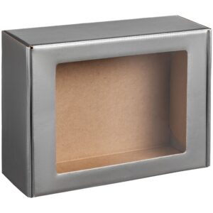 Коробка с окном Visible, серебристая