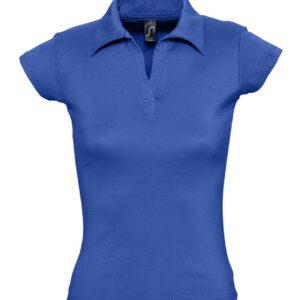 Рубашка поло женская без пуговиц Pretty 220 ярко-синяя (royal), размер XL